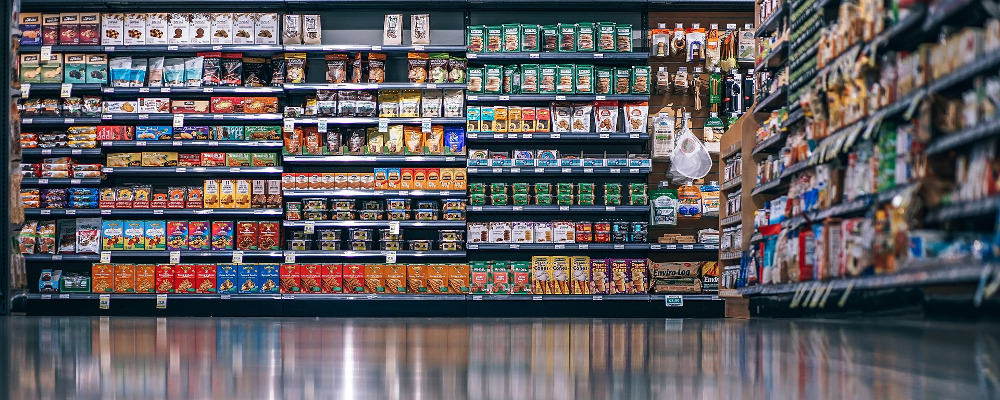 Grocery Aisle with assorted products