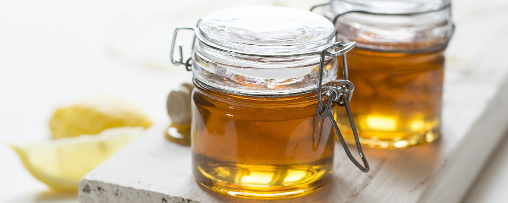 Jars of honey for consumption