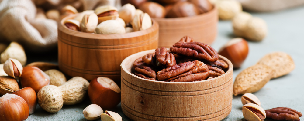 Protein-rich nuts for a healthy diet