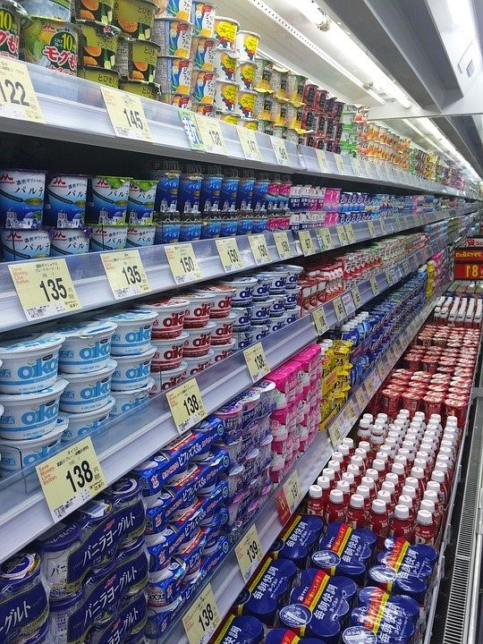 yoghurt in stores